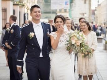 Ines & Michael z dalekiej Florydy i ich wymarzona weselna opowieść w Krakowie